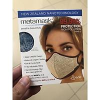Khẩu Trang Cao Cấp Metamask - Ngăn Ngừa 99% Bụi Siêu Mịn PM2.5, Virus, Vi Khuẩn Và Các Tác Nhân Gây Bệnh, Có Thể Thay Thế Màng Lọc Định Kỳ, Có Thể Giặt Lại Được (Phiên Bản Linen Size L Dành cho cân nặng từ 60-90Kg) - Hàng Chính Hãng