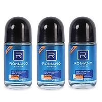 Combo 3 lăn khử mùi Romano Froce (50ml*3)+ Tặng 1 xà bông tắm 50gr