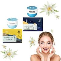Bộ Dưỡng Da Ban Ngày & Ban Đêm Hasi Kokeshi Puredoll Whitening Day Cream & Night Cream