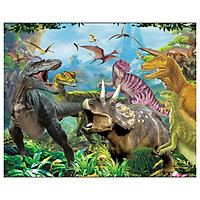 Tranh ghép gỗ 100 mảnh - Công viên khủng long  - Jurassic Park