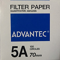 Giấy lọc định lượng số 5A, đường kính 70mm