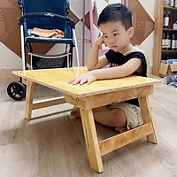 Bàn Gỗ Tre Xếp Gấp Gọn Chống Mối Mọt Cong Vênh-Bàn gỗ học sinh gấp xếp gọn