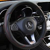 Vỏ bọc vô lăng ô tô da cao cấp nhiều màu có lỗ thoát khí có vòng cao su đàn hồi bên trong phù hợp hầu hết các loại xe có kích thước tay lái 37-38 cm
