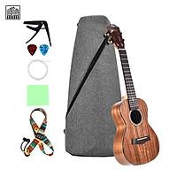LINGTING 26 Inch Concert Ukulele Ukelele Koa Wood Topboard Back & Side Boards with Gig Bag Uke Strap Strings Cleaning