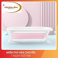 Chậu tắm cho bé gấp gọn báo nhiệt độ thau tắm cho trẻ sơ sinh từ 0-5 tuổi cài vòi hoa sen