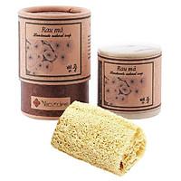 Xà phòng rau má tặng xơ mướp - Centella Handmade Soap