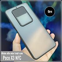 Ốp lưng cho Xiaomi Poco X3 NFC nhám viền màu trượt camera