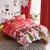 Comforter Duvet Cover Set Merry Christmas Gift Bedding Set Bedclothes Cover Bed Sheet 2 Pillowcases