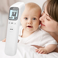 Nhiệt kế điện tử đo thân nhiệt, cảnh báo sốt, chính xác, sử dụng pin, nhãn hiệu NiNDA