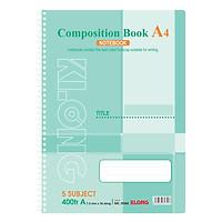 Sổ Lò Xo Đơn Composition Book Klong MS 394M (400 Trang)