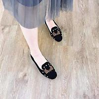 Giày Búp Bê Thời Trang Cao Cấp Ladiez  Dép Sục Nữ Thêu Họa Tiết Êm Chân  Đế Bệt  Xinh Xắn Siêu Đẹp