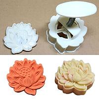 Bộ Khuôn Nén Lò Xo Làm Bánh Trung Thu Hoa Sen Lớn 3D 150gr