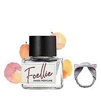Nước Hoa Vùng Kín Foellie Eau De Bonbon Inner Perfume (Màu Trắng) -  mùi hương đào ngọt ngào+ Tặng Kèm 1 Băng Đô Tái Mèo ( Màu Ngẫu Nhiên)