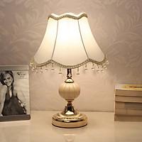 Đèn ngủ để bàn Vdecor phong cách Châu Âu sang trọng chùm đèn vải , có thể điều chỉnh ánh sáng