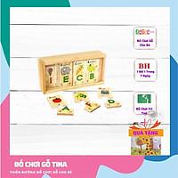 Bộ tìm chữ cái tiếng Anh ,đồ chơi gỗ giáo dục thẻ học chữ cái tiếng anh đồ chơi thông minh cho bé 2 tuổi