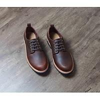 Giày nam, phong cách giày tây retro buộc dây B2PD1C0 da bò nhập khẩu, chính hãng Banuli