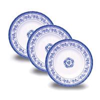 Bộ 3 Dĩa (Đĩa) sâu 5 An Toàn Sức Khỏe Nhựa Xanh Melamine DS05