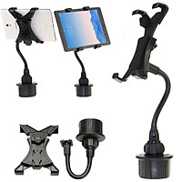 Adjustable Bendy Car Cup Holder Mount For 7~10'' iPad Kindle Fire Galaxy Tablet