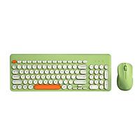 Bộ bàn phím & chuột không dây BOW K221 2.4G 96 phím tròn Keycaps Bàn phím công thái học di động cho IOS / Windows