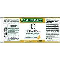Viên Uống Nature's Bounty Vitamin C Với Chiết Xuất Quả Tầm Xuân 1000mg (100 Viên)