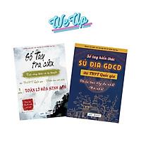 Sách - Combo 2 cuốn sổ tra cứu công thức và xã hội 8 môn lớp 12