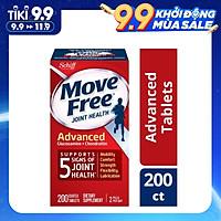 Viên Uống Schiff Move Free Joint Health Advanced Glucosamine Chondroitin 200v hỗ trợ 5 triệu chứng Xương Khớp, Nuôi Dưỡng Các Khớp Chắc Khỏe và Linh Hoạt ở người già hoặc vận động nhiều