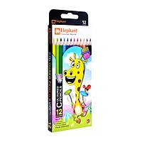 Bút chì dài ELEPHANT Thái Lan 12 màu F12