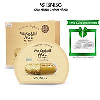 Combo 10 Mặt Nạ Chống Lão Hóa, Giảm Nếp Nhăn BNBG Vita Cocktail AGE Foil Mask 30mlx10
