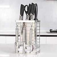 Khay cắm dao kéo Inox 304 Hobby DD3M kèm 3 móc treo và khay hứng nước - không rỉ sét