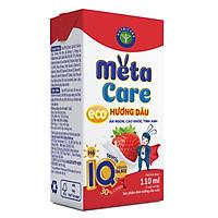 Thùng sữa nước Nutricare Metacare ECO (Vị DÂU) - ăn ngon cao khoẻ tinh anh cho trẻ từ 1 tuổi (110ml x 48 hộp)