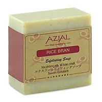 Xà phòng cám gạo AZIAL Rice Bran Exfoliating Soap, xà bông cục tẩy tế bào chết nhẹ nhàng, dưỡng da sáng mịn, hương tinh dầu Sả Chanh tươi mát