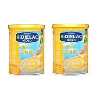 BỘ 2 LON BỘT ĂN DẶM RIDIELAC GOLD GÀ RAU CỦ - 350G