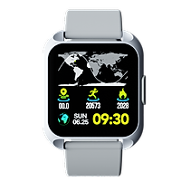 Đồng Hồ Thông Minh Hannspree Hanns.W S1 Ecg Smartwatch Đài Loan Đo Điện Tâm Đồ, Đo Huyết Áp, Đo Nồng Độ Oxy Trong Máu Spo2, Thông Báo Tin Nhắn Và Cuộc Gọi Đến Dùng Cho Iphone, Android (Hàng Nhập Khẩu)