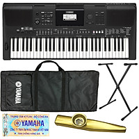 Trọn Bộ Đàn Organ Yamaha PSR E463 - Keyboard PSR-E463 chính hãng kèm Chân , Bao, Nguồn, Giá Sách - Tặng Kèn Kazoo đồng thanh cao cấp TONY