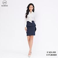 Chân váy ôm vạt bèo che bụng rất tốt, chất liệu lụa m.a.n.g.o cao cấp Elimaz ECV20.023