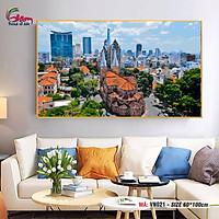 Tranh tô màu theo số Gam khổ lớn phong cảnh Sài Gòn Việt Nam VN021