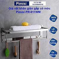Kệ giá treo khăn tắm dán tường trong nhà vệ sinh Pimisi PR-011WM inox 304 giàn đa năng có kèm keo dán | hàng chính hãng