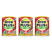 Bộ 3 Lon Sữa GrowPLUS+ Đỏ Cho Trẻ Suy Dinh Dưỡng Trên 1 Tuổi - 1.5kg