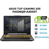 Laptop Asus TUF Gaming A15 FA506QR-AZ003T (AMD R7-5800H/ 16GB (8GBx2) DDR4/ 512GB SSD/ RTX 3070 8GB/ 15.6 FHD IPS, 240Hz/ Win10) - Hàng Chính Hãng