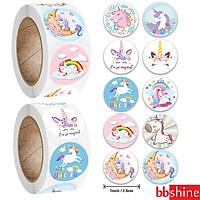 Sticker Unicorn, cuộn 500 sticker khen thưởng với nhiều họa tiết đáng yêu cho những giờ học của bé thêm thú vị và sáng tạo – ST014