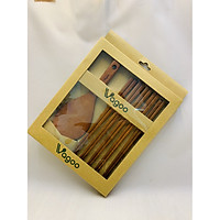 Bộ vá gỗ múc cơm và 5 đôi đũa gỗ hàng xuất đi Nhật, Hàn