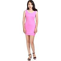 Đầm nữ Narsis NWS1201 màu hồng trẻ trung, chất liệu Cotton cao cấp cực mềm mại thông thoáng, co giãn tốt, sản phẩm được sản xuất tại Việt Nam bởi thương hiệu thời trang nổi tiếng NARSIS