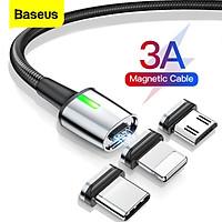 Bộ cáp từ 3 đầu Baseus Zinc Magnetic Series 2 Cable Kit (Lightning/ Type C/ Micro Magnetic Connetor + USB Cable) - Hàng chính hãng
