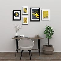 Bộ 5 Khung ảnh Hình Album Treo Tường phòng khách WK19 Miễn phí phụ kiện.