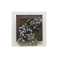 Hoa giả 3D trang trí tường nhà sinh động và sáng tạo - hình hạt lụa xanh