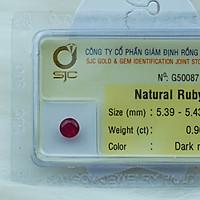 Mặt Đá Quý Ruby Tự Nhiên Kiểm Định  Mài Giác Tròn