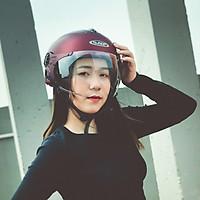 Mũ bảo hiểm 1/2 Sunda 137A - Màu đỏ nhám