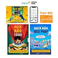 Sách - Combo 3 cuốn Hack Não 1500 Từ Vựng Tiếng Anh + Ngữ Pháp + Giao Tiếp - Kèm App Hack Não Pro kiểm tra học phát âm Trọn Đời