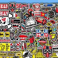 Sticker Chống Nước |  Set 50 Hình Chủ Đề Tem Xe