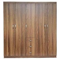 Tủ đựng quần áo bằng gỗ MDF 5 cánh màu nâu 2m